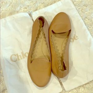 Chloe Scallop Loafer Leather Flats